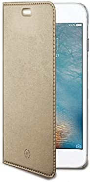 Celly AIR801GD Custodia in Similpelle per iPhone 7 Plus, Oro