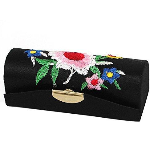 Blumenstickerei Dame Lippenstift Lippen Chap Stick Make-up-Fall-Kasten (Make Schwarz Up Stick)