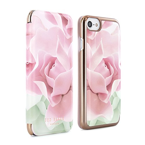 Official Ted Baker Aw16 Knowai Mirror Folio Case For Iphone 8, 7, 6s - Porcelain Rose - Nude