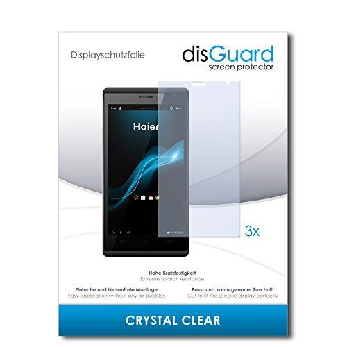 disGuard® Bildschirmschutzfolie [Crystal Clear] kompatibel mit Haier Phone W858 [3 Stück] Kristallklar, Transparent, Unsichtbar, Extrem Kratzfest, Anti-Fingerabdruck - Panzerglas Folie, Schutzfolie