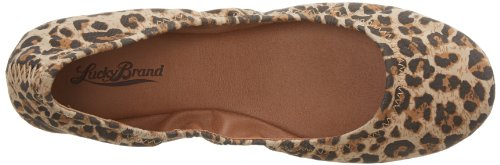 Lucky Brand Emmie Cuir Ballerines Luxe Leoprd