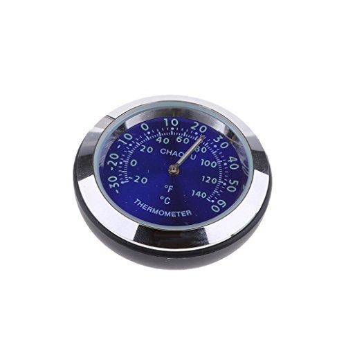 perfk Mini Auto Thermometer Temperaturanzeige aus Legierung, 38x38x15 mm, Um 360 Grad Gedreht - Blau