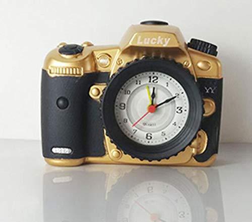 XUEQQ wecker Kreative Kamera Styling Mode Kunststoff Wecker Student Retro Geschenk Schlafzimmer Desktop-plastischen Verzierungen Desktop Digital Digitale Kamera