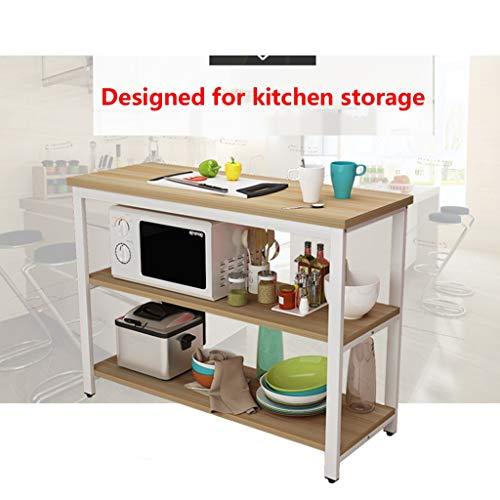 WYDM Küchenschneidetisch Multifunktions-Esstisch Kleine Küche Zu Hause Konsole, Küche Lagerregal Bodenstehend Kann Auch Für Den Schreibtisch Verwendet Werden (Size : 100 * 40 * 80CM) (Kleiner Backofen Schreibtisch)