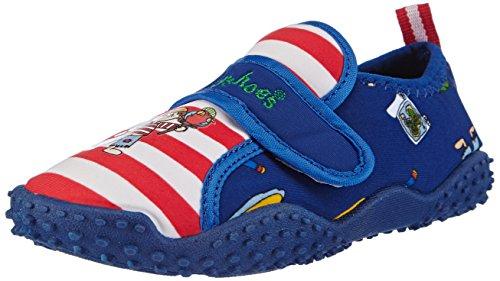 Playshoes Badeschuhe Pirateninsel mit höchstem UV-Schutz nach Standard 801 174760, Jungen Aqua Schuhe, Blau (original 900), 22/23 EU (Aqua-schuhe)