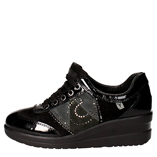 Cinzia Soft IV6402-AVS 001 Sneakers Donna Camoscio/vernice Nero/grigio Nero/grigio 40