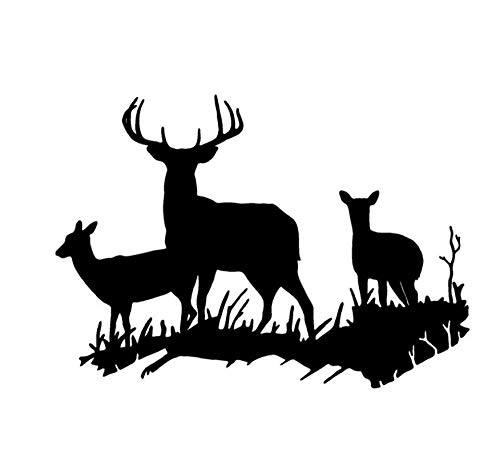 DDLLAN Auto Aufkleber Interessante Deer Family Car Styling wasserdicht Vinyl Auto Aufkleber und Aufkleber 17,5 * 12,5 cm 2 Stück (Deer Family Auto-aufkleber)