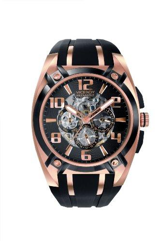 Viceroy 47567-95 – Reloj de caballero automático, correa de goma color negro