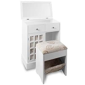schminktisch frisierkommode kosmetiktisch mit hocker und. Black Bedroom Furniture Sets. Home Design Ideas