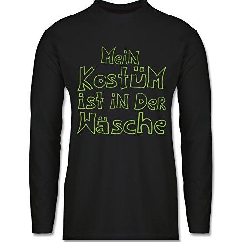 Shirtracer Karneval & Fasching - Mein Kostüm ist in der Wäsche - Herren Langarmshirt Schwarz