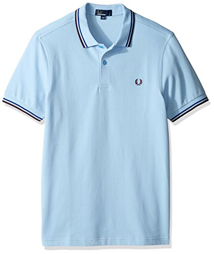 fred perry Fred Perry Herren Poloshirt, Glacier/Cobalt/Bramble, XL