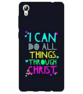 Chiraiyaa Designer Printed Premium Back Cover Case for Vivo Y51 (I can do all things through christ) (Multicolor)
