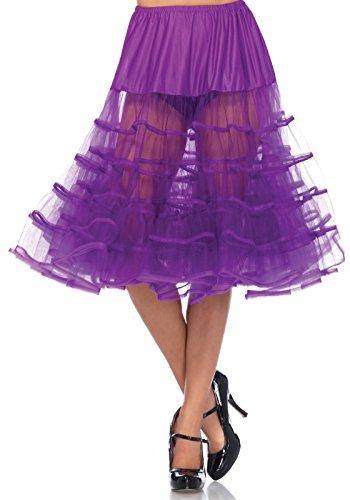 LEG AVENUE Damen Petticoat knielang lila Einheitsgröße (Violett)