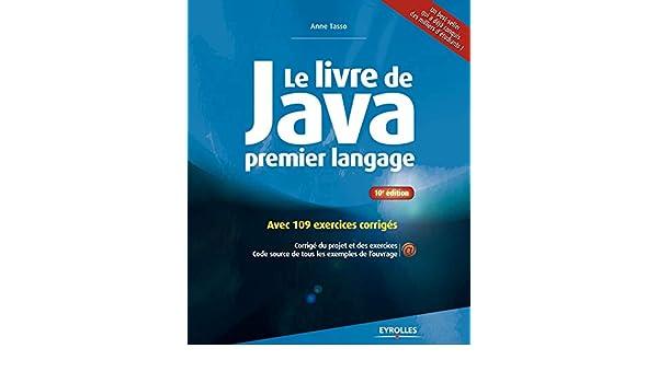 Amazon Fr Le Livre De Java Premier Langage Avec 109