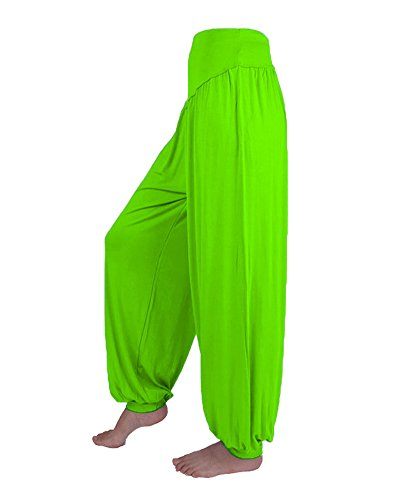 Donna Harem Pantaloni Baggy Pump Aladin Lunghi Pantaloni Yoga Jogging Sportivi Frutta Verde