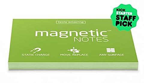 magnetische Notitzzettel–statisch haftende Notizzettel, Finanziert durch Kickstarter-Kampagne, 100x 70mm, 100Blatt,