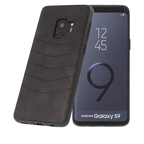 PULSARplus Hülle kompatibel mit Samsung Galaxy S9 Handyhülle, Unterstützt kabelloses Laden (Qi), Schutzhülle dünn Case Cover Spike Design Vintage Schwarz