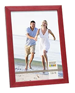 deknudt frames s41jl4 bilderrahmen 40x60 rot schmale leiste aus holz holz fotokader. Black Bedroom Furniture Sets. Home Design Ideas
