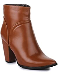 Bruno Manetti Women Tan(BT-001) Synthetic Leather Boots