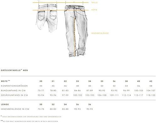 MAC Herren Jeans Hose Ben (Nachf. Model Brad) Art 0799L038000 , Größe:W40/L30;Color MAC Herren:H108 stonewash dark (Color-denim-jeans)