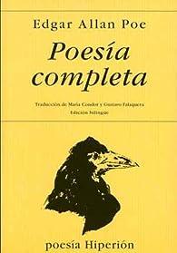 Poesía completa par Edgar Allan Poe