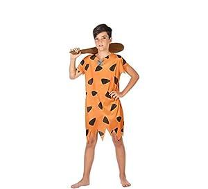 Atosa-56843 Disfraz Cavernícola, Color Naranja, 7 a 9 años (56843)
