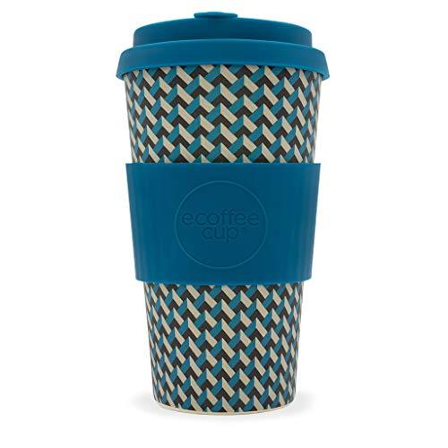 Ecoffee Cup Nathan Road 453,6 gram/475 ML Motif géométrique | réutilisable en Bambou Tasse à café
