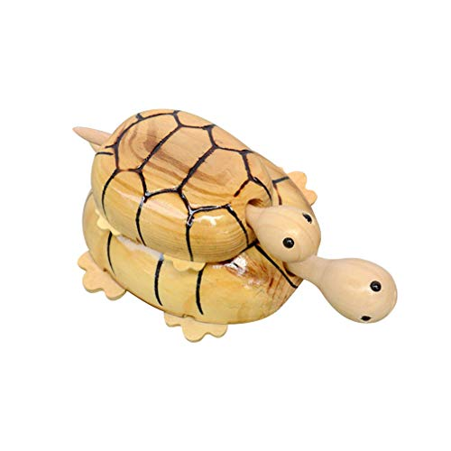 Toyvian 2 pz Tartaruga di Legno Realistico Animale Tartaruga Decorazione della casa Artigianato Regalo Giocattolo Modello...