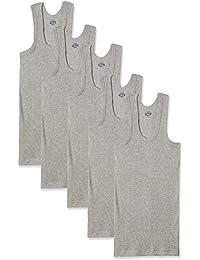 Dollar Bigboss Men's Cotton Vest (Pack Of 5) (8902889480749_MDVE-02-BB-DERBY-GREY MELANGE_90_Grey Melange)