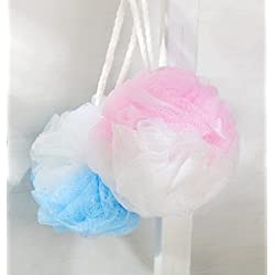 Kriwin Combo of 2 Big Bath Loofah/ Sponges / Scrubber/ Puff / Luffa/ Flannel ( Assorted Colors)