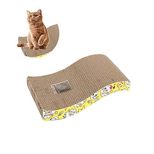 Los beneficios del rascador de gatos de papel corrugado: hábitos de gato, como agarrar muebles de hogar, sofás, almohadas, ropa de cama, etc., por lo que si el gato araña la tabla de rasguños, puedes proteger los muebles de daño, pero también a la di...