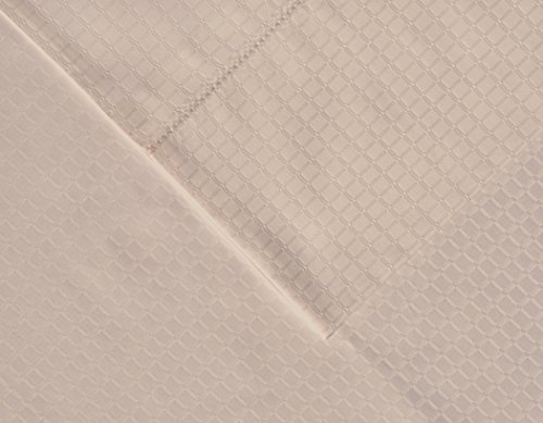 pointehaven 525Fadenzahl Pima-Baumwolle Kissenbezüge, Standard, Dobby, Puderquaste, Set von 2