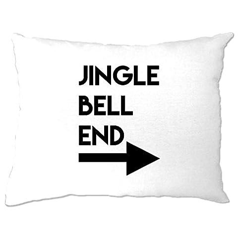 Jingle Bell End Printed Slogan Zitat Design Premium-Qualität Kissenbezuge