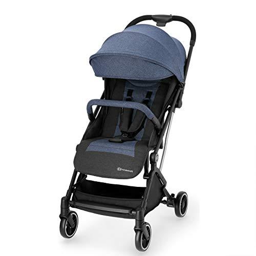 Kinderkraft Passeggino INDY Buggy Ultraleggero Compatto Pioggia Pieghevole con una Mano Accessori Coprigambe dalla nascita a 3,5 anni (0-15 kg) Blu
