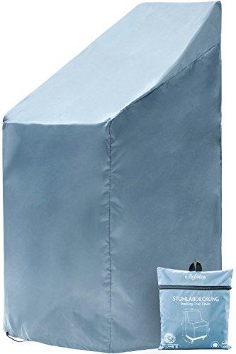 Chefarone Gartenstuhl Abdeckung - Wasserabweisende Schutzhülle für Stapelstühle - 250D Polyester...