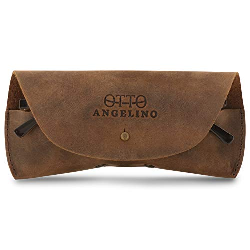 Londo Genuine Leather Case for Eyeglass, Sunglasses, Goggles and Spectacles (Cinnamon)