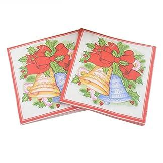 Toyvian 20 piezas de servilletas impresas desechables del árbol de navidad suministros para fiestas servilletas de papel tejidos para navidad