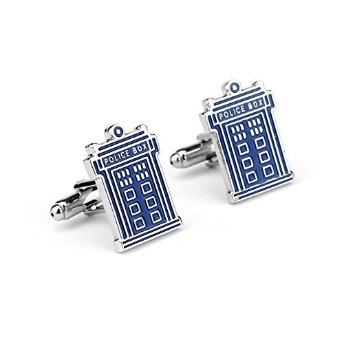 Dr Who Tardis Cosplay Cufflinks Boutons de Manchette