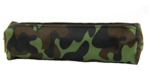Supply Arm (2PC, S Camouflage Canvas Schule Stationery Bleistift Make-up Fall Box Bag Back to School Office Supplies armee-grün)