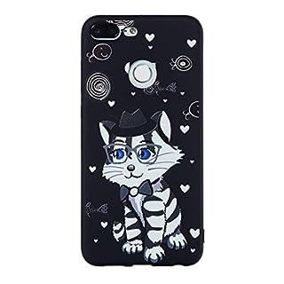 Exquisite Muster schutzhülle Telefon Abdeckung Anti-Scratch Rutschfeste TPU weiche voll umhüllte Telefon case Handy Shell für Huawei Honor 9 lite (Katze)
