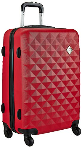 Pronto Naples ABS 55 cms Red Hardsided Cabin Luggage (7807 - RD)