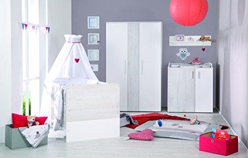 roba Kombi Kinderbett inkl. Bettkasten \'Alenja\', Baby- bzw. Kinderbett inklusive unterschiebbarem Bettkasten, Babyzimmer Set weiß