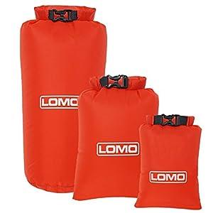 Lomo 3 Pack Lightweight Roll Top Dry Bags. 8L, 6L, 3L