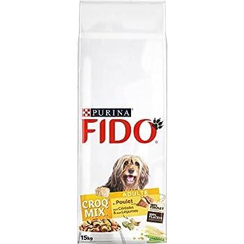 Fido Croq Mix Poulet, Céréales et Légumes - 15 KG - Croquettes pour Chien Adulte