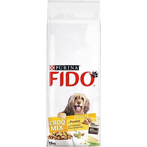 Fido Croq Mix Poulet, Céréales et Légumes - 15 KG -...