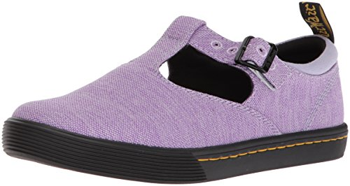Dr. Martens Women's Winona Mary Jane Flat, Purple Heather Woven Textile+Fine Canvas, 4 Medium UK (6 - Purple Schuhe Jane Mary