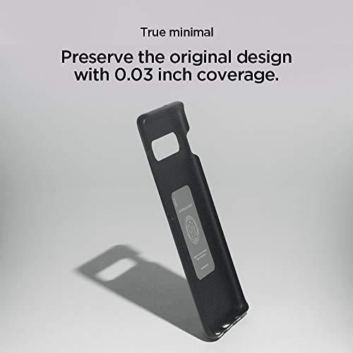 Spigen Thin Fit, Cover Galaxy S10 Plus, 0.7mm Rivestimento Soft-Feel Ultra-Sottile & Robusto per Galaxy S10 Plus - Graphite Gray