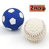 Zeewoo Pets Ball Hundespielzeug Intelligenz, Knochen Form Kauspielzeug für Golden Retriever Hund-Best für Aggressive Kauer/Zahn Reinigung (Groß)