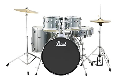 Pearl Roadshow RS525SC/C706 5-Piece Drum Set, Charcoal Metallic