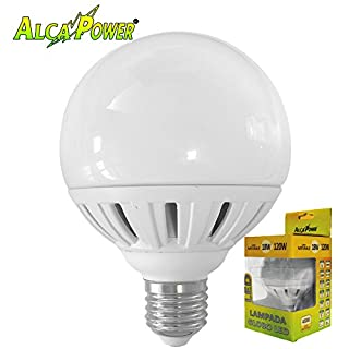 LED Bulb E27Globo 18W = 120W Diameter 95mm Warm Light 2700° K